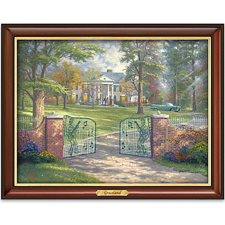Illuminating Canvas Print Wall Decor: Thomas Kinkade Graceland