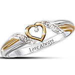 Women's Ring - Heart Of Love Personalized Diamond Ring