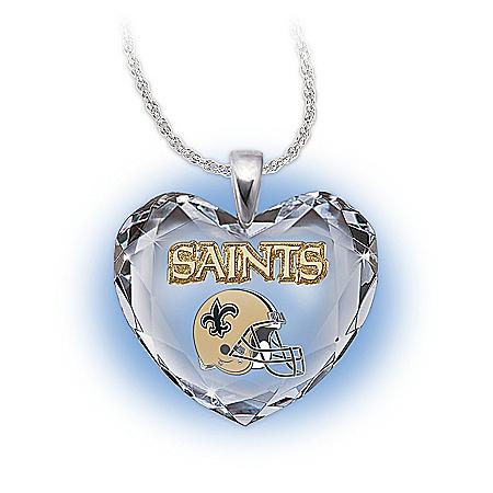 NFL New Orleans Saints Pendant Necklace: Go Saints!