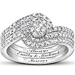 Personalized Women's Diamond Ring - The Story Of Our Love