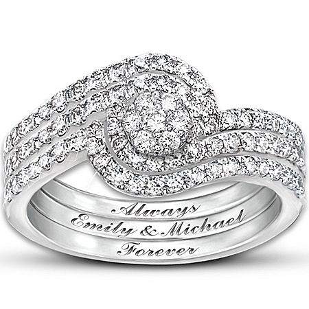 Personalized Women's Diamond Ring: The Story Of Our Love by The Bradford Exchange Online - Lovely Exchange