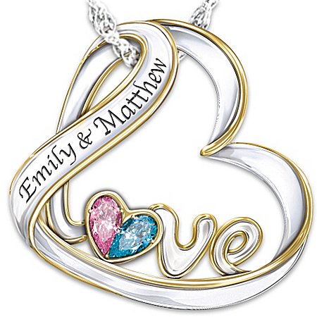 Personalized Birthstone Pendant Necklace