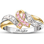 Engraved Women's Ring Hope's Embrace