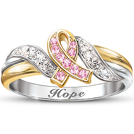 Engraved Women's Ring: Hope's Embrace