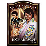 Personalized Welcome Sign - Elvis Presley