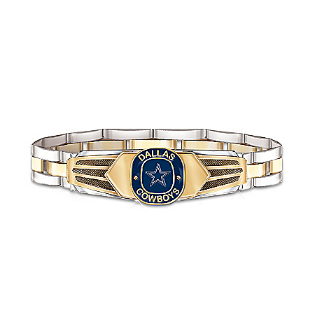 NFL Dallas Cowboys Stainless Steel Men's Bracelet