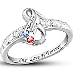 Personalized Birthstone Ring - Infinite Love
