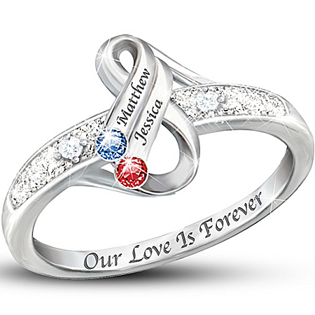 Personalized Birthstone Infinite Love
