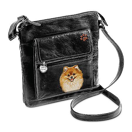 I Love My Pomeranian Crossbody Bag