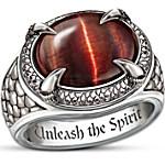 Men's Stainless Steel Ring - Dragon Eye