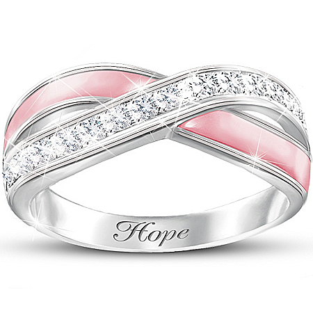 Women's Ring: Reflections Of Hope by The Bradford Exchange Online - Lovely Exchange