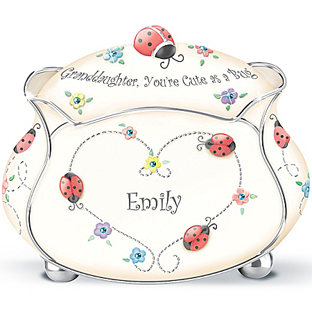 Personalized Music Box: Granddaughter, You're Cute As A Bug