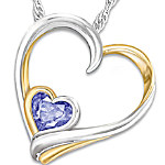 Personalized Birthstone Pendant Necklace - Always In My Heart