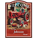 Farmall Personalized Welcome Sign