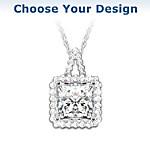 Necklace - Diamonesk Pendant Necklace