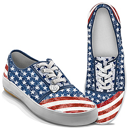 Photo of Women's Shoes: American Pride Women's Sneakers by The Bradford Exchange Online