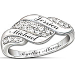 Women's Ring - Cascade Of Love Personalized Diamond Ring