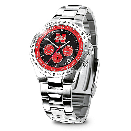 Nebraska Cornhuskers Collector's Watch