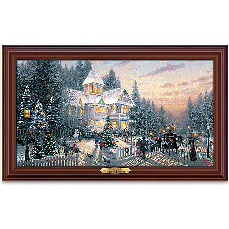 Wall Decor: Thomas Kinkade Victorian Christmas Wall Decor