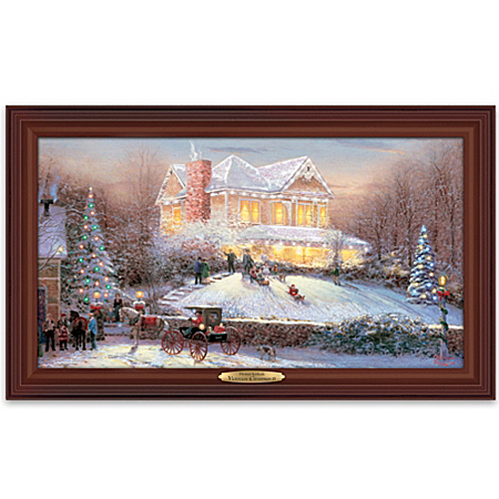Wall Decor: Thomas Kinkade Victorian Christmas II Wall Decor