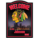 NHL® Chicago Blackhawks® Personalized Welcome Sign Wall Decor