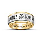 Ring - USMC Semper Fi Men's Spinning Ring