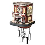Cuckoo Clock - Freedom Choppers Motorcycle Garage Cuckoo Clock