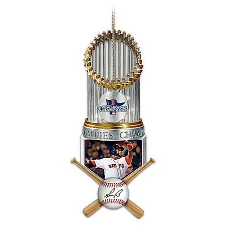 Boston Red Sox 2013 World Series Champions David Ortiz Christmas Ornament