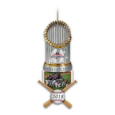 2018 MLB World Series Champions Boston Red Sox Trophy Ornament