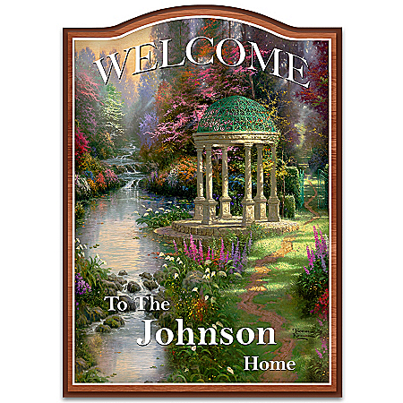 Thomas Kinkade Personalized Welcome Sign Wall Decor