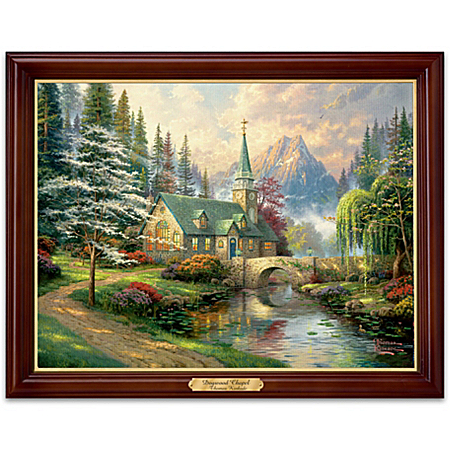 Wall Decor: Thomas Kinkade Dogwood Chapel Wall Decor