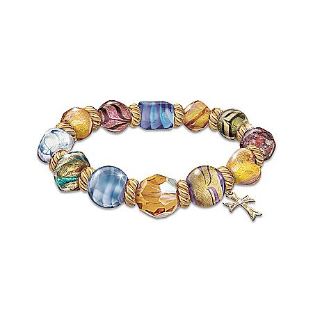 Bracelet: Colors Of Faith Murano-style Glass Bracelet