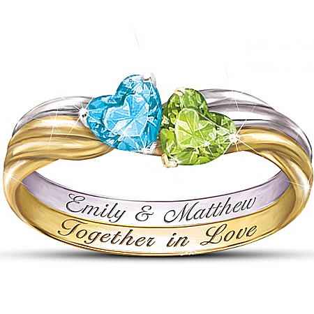 Women's Together In Love Personalized Ring