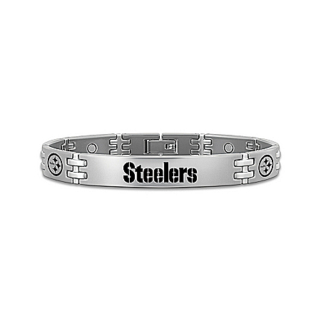 Pittsburgh Steelers Men's Titanium Bracelet: Steelers Strong!