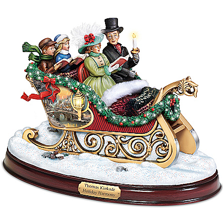 Sculpture: Thomas Kinkade Holiday Harmony Sculpture by The Bradford Exchange Online - Lovely Exchange