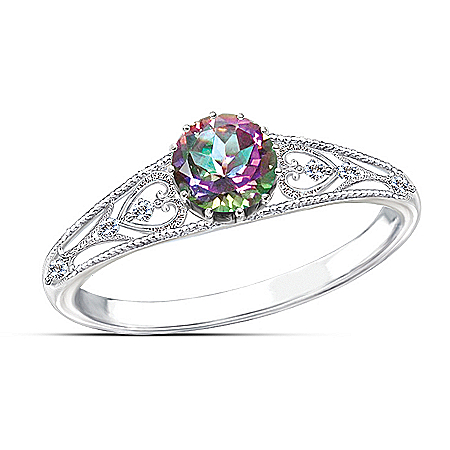 Women's Ring: Shades Of Passion Ring by The Bradford Exchange Online - Lovely Exchange