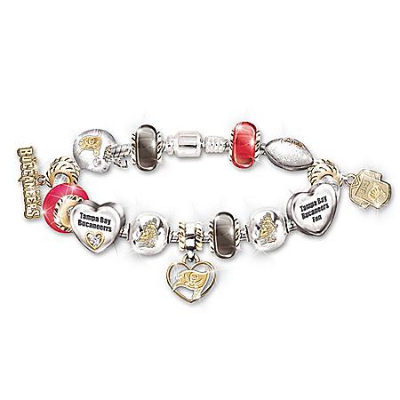 NFL Tampa Bay Buccaneers Women's Charm Bracelet: Go Buccaneers!