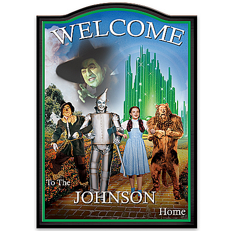Wizard Of Oz Personalized Welcome Sign by The Bradford Exchange Online - Lovely Exchange