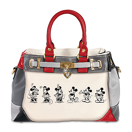 Handbag: Disney Mickey And Minnie Love Story Handbag
