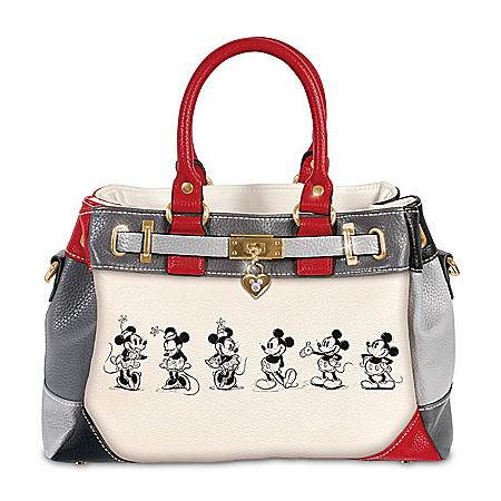 Handbag: Disney Mickey And Minnie Love Story Handbag