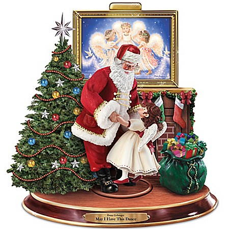 Dona Gelsinger May I Have This Dance Sculpture Featuring Dancing Santa Claus And Angel by The Bradford Exchange Online - Lovely Exchange