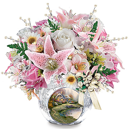 Centerpiece: Thomas Kinkade Treasured Moments Table Centerpiece