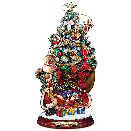 Dona Gelsinger Delivering Holiday Joy Tabletop Christmas Tree Figure With Lights, Music And Motion
