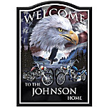 Welcome Sign - Ride Hard, Live Free Personalized Welcome Sign