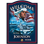 Personalized Welcome Sign - U.S. Navy Pride