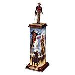 Sculpture - John Wayne - An American Hero Illuminated Statement Edition Sculpture