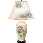 Thomas Kinkade Everett's Cottage Charm Porcelain Ginger Jar Table Lamp