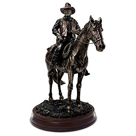 John Wayne On Horseback Cold-Cast Bronze Sculpture: Limited to Just 5,000