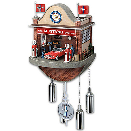 Ford Mustang Garage Cuckoo Clock