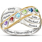 Personalized Birthstone Ring A Mother's Never Ending Love